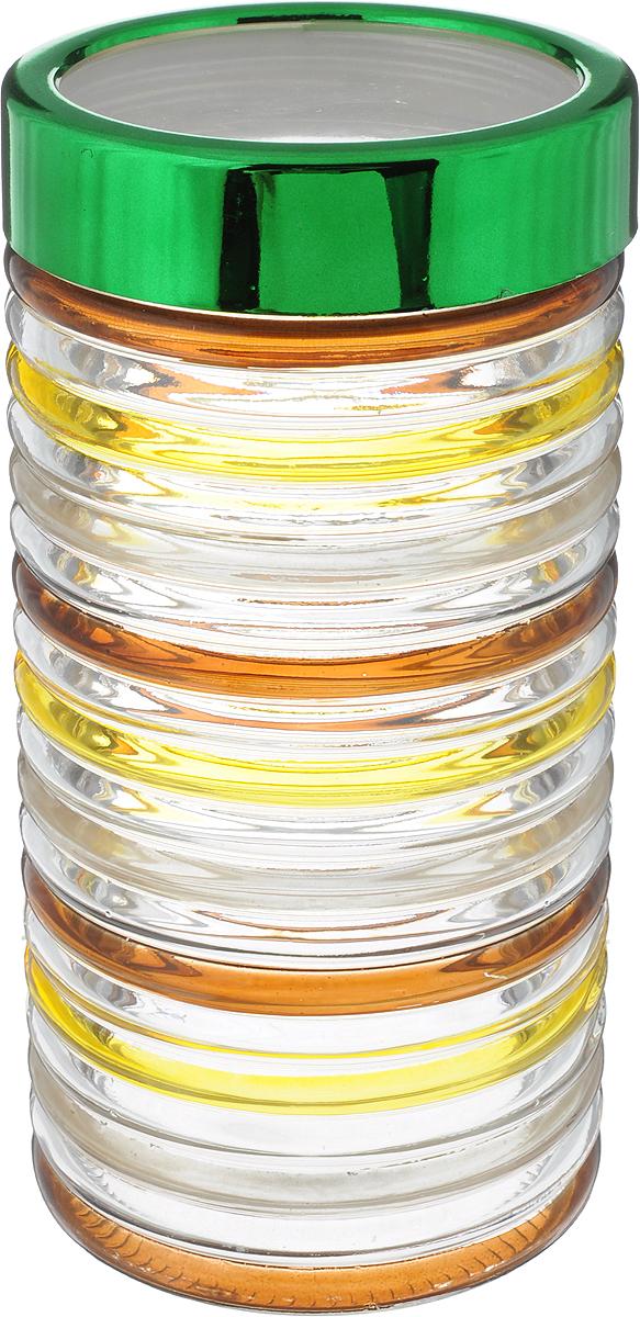 Банка для сыпучих продуктов Bohmann Кольца, 1,7 л01331BHGNEW_прозрачный, коричневый, зеленыйБанка Bohmann Кольца изготовлена из стекла. Емкость снабжена крышкой, которая выполнена из прочного пластика и металла и плотно закрывается, дольше сохраняя аромат исвежесть содержимого. Банка подходит для хранения сыпучих продуктов: круп, специй, сахара, соли и прочего. Такая банка станет полезным приобретением и пригодится на любой кухне.Диаметр (по верхнему краю): 9 см.Высота (без учета крышки): 21,5 см.
