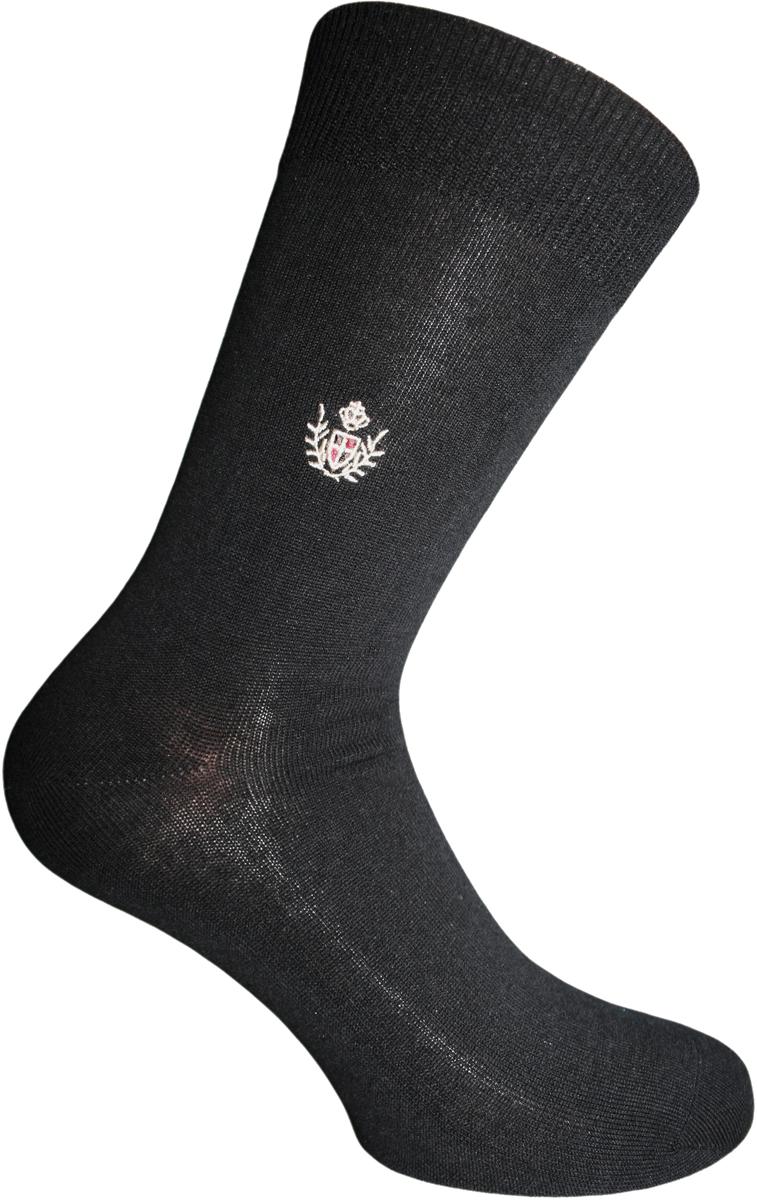 Носки мужские Master Socks, цвет: черный. 88717. Размер 2788717Удобные носки Master Socks, изготовленные из высококачественного комбинированного материала с основой из мерсеризованного хлопка, очень мягкие и приятные на ощупь, позволяют коже дышать.Эластичная резинка плотно облегает ногу, не сдавливая ее, обеспечивая комфорт и удобство. Носки с паголенком классической длины. Практичные и комфортные носки великолепно подойдут к любой вашей обуви.