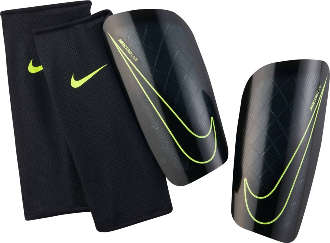 Щитки Nike Mercurial Lite Shin, цвет: черный, размер L nike nike mercurial lite