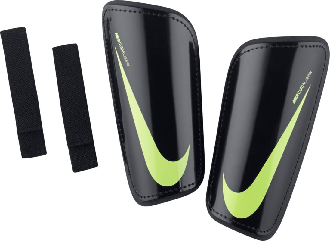 Щитки Nike Mercurial Hardshell, цвет: черный. SP2101-011. Размер MSP2101-011Футбольные щитки Nike Mercurial Hardshell — это легкая конструкция с превосходной амортизацией для защиты и функциональности, которая соответствует требованиям профессиональной игры.Низкопрофильная конструкция защищает от трения. Специальный дизайн для левой и правой ноги для естественной посадки. К прочному защитному покрытию прилегает плотный пеноматериал, смягчающий ударные нагрузки.