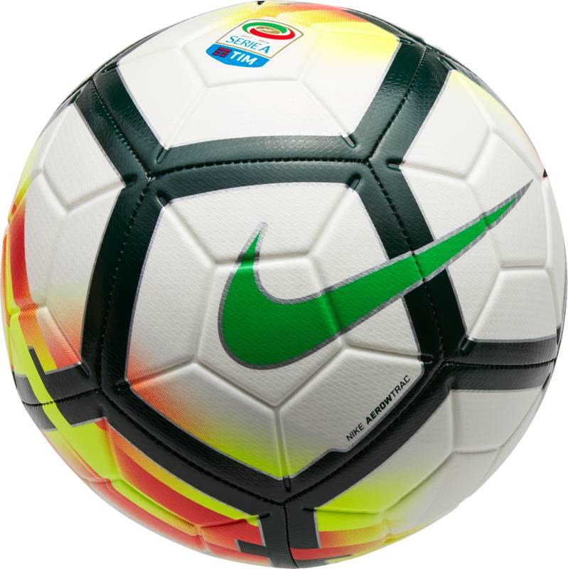 Мяч футбольный Nike Serie A Strike Football, цвет: белый, размер 5SC3152-100Serie A Strike FootballФУТБОЛ КАЖДЫЙ ДЕНЬ С ИДЕАЛЬНОЙ ЭКИПИРОВКОЙ.Футбольный мяч Serie A Strike идеально подходит для ежедневных игр. Благодаря графике Visual Power его легко отслеживать на поле, а укрепленная резиновая камера обеспечивает упругость и сохранение формы.Графика Visual Power позволяет заметить мяч быстрее и реагировать мгновенно.Текстурированное покрытие для превосходного касания.Желобки Nike Aerowtrac для точной траектории полета мяча.Конструкция из 12 панелей для точной траектории полета.Рельефное покрытие из материала TPU обеспечивает оптимальное касание и контроль мяча.Машинная строчка усиливает прочность и улучшает касание для длительного сохранения функциональных качеств.Усиленная бутиловая камера отлично сохраняет форму.Эмблема Чемпионата Италии по футболу по центру мяча.