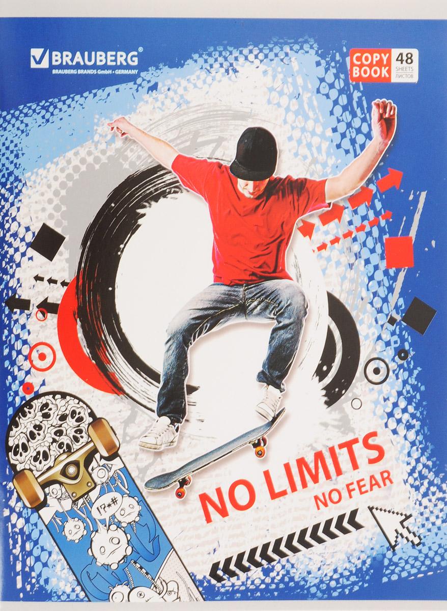 Brauberg Тетрадь No Limits Скейтборд 48 листов в клетку дутики no limits no way