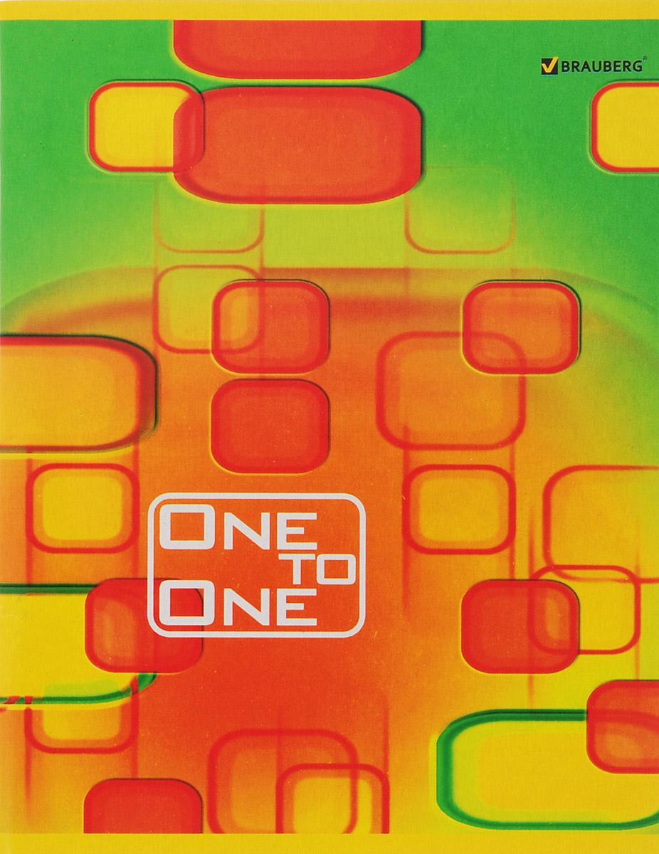 Brauberg Тетрадь Для единственной 96 листов в клетку цвет зеленый оранжевый brauberg тетрадь natural harmony 48 листов в клетку цвет оранжевый 401874