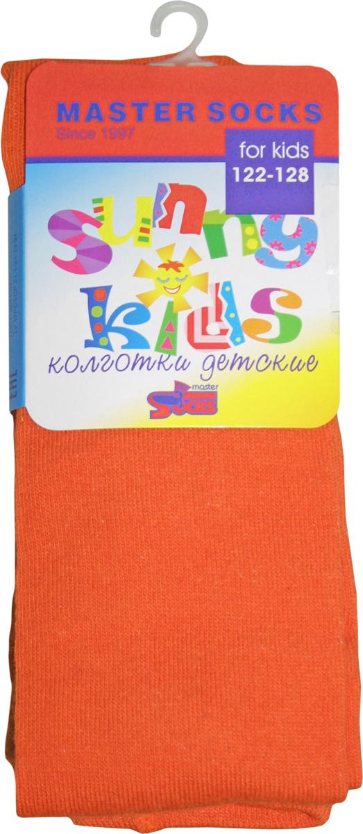 Колготки для девочки Master Socks Sunny Kids, цвет: оранжевый. 81000. Размер 110/11681000Удобные колготки для девочки Master Socks станут ярким дополнением к детскому гардеробу. Высококачественный хлопок дарит ощущения мягкости и комфорта. Благодаря пористой структуре волокна, изделие обладает хорошей воздухопроницаемостью, отлично впитывает влагу, не прилипает к коже и быстро сохнет. Колготки хорошо стираются, длительное время сохраняют привлекательный внешний вид.Колготки с плоскими эластичными швами имеют на талии широкую резинку. Усиленные пятка и мысок изделия обеспечивают надежность и долговечность при носке.В таких колготках маленькая принцесса будет чувствовать себя уютно и комфортно и всегда будет в центре внимания!