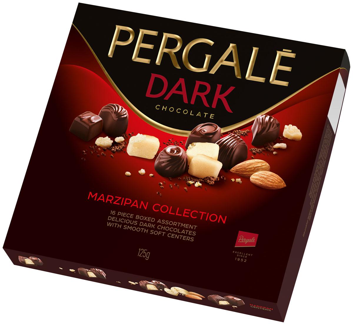 Pergale Набор конфет марципановая коллекция, 125 г набор конфет pergale dark розы ассорти 382г