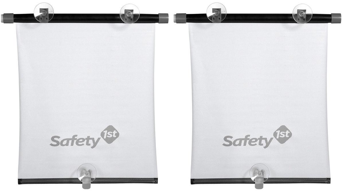 Safety 1st Рулонная солнцезащитная шторка для автомобиля 2 шт38046760Комплект из двух солнцезащитных шторок для автомобильных окон предохраняет ребенка от прямых солнечных лучей.Шторки компактно сворачиваются. Крепление - на присосках. Кнопка автоматического сворачивания расположена сбоку.