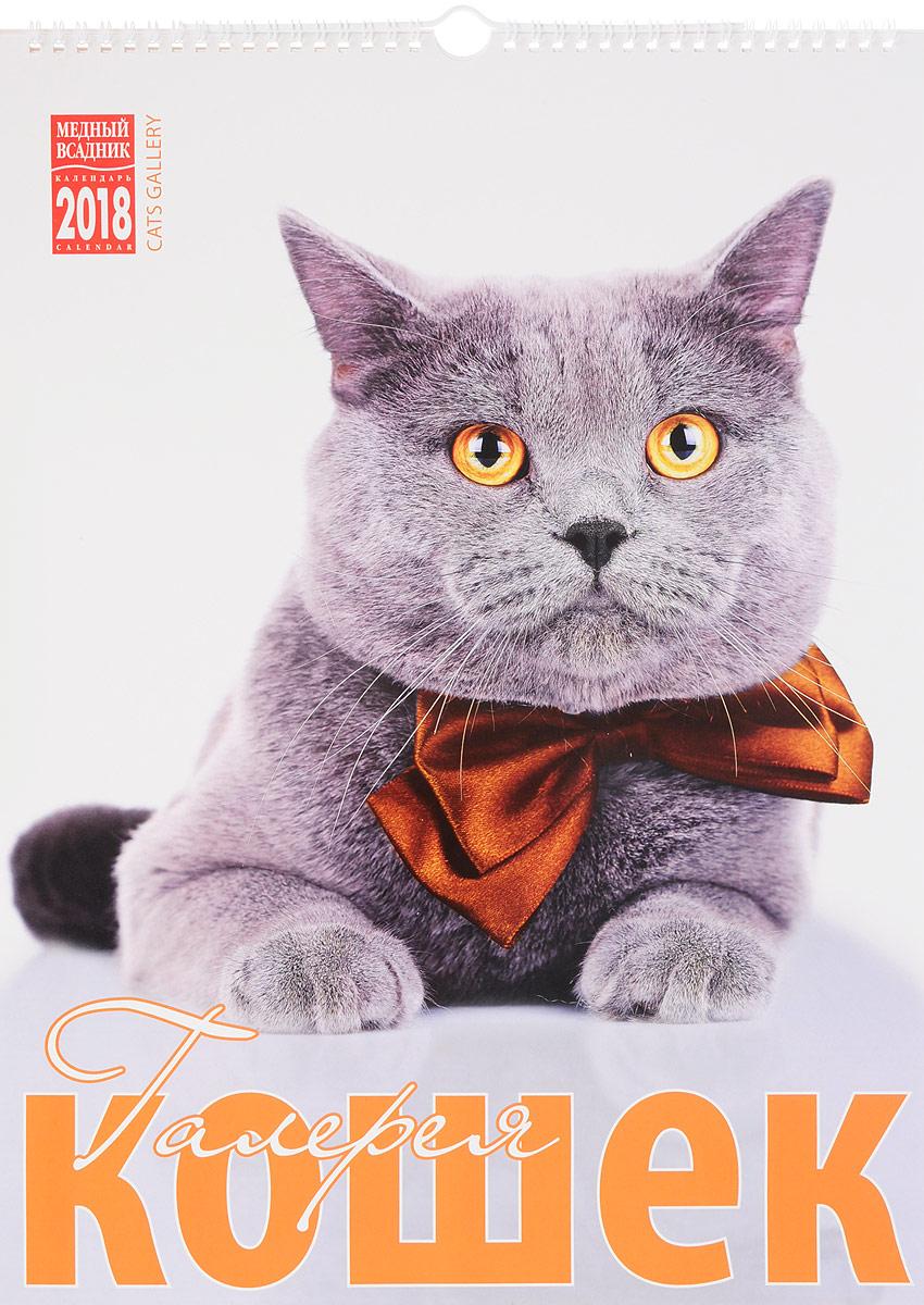 Календарь на 2018 год (на спирали). Галерея кошек / Cats Gallery