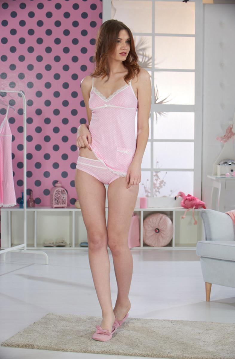 Комплект женский Sevim: майка, трусы, цвет: розовый. 4457 SV. Размер L (44/46) майка sevim kids майка