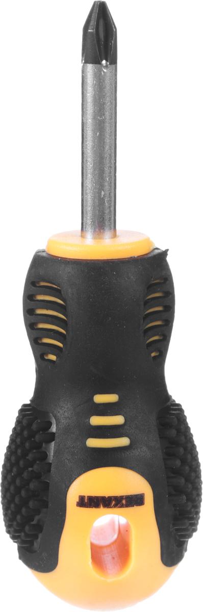 Отвертка крестовая Reхant, PH 2 х 40 мм12-4730Отвертка Reхant предназначена для монтажа/демонтажа крепежных соединений. Стержень отвертки выполнен из высококачественной хромованадиевой стали. Отвертка оснащена намагниченным наконечником. Эргономичная двухкомпонентная прорезиненная рукоятка делает работу с инструментом легкой и продолжительной. Длина жала: 4 см. Общая длина отвертки: 10 см.