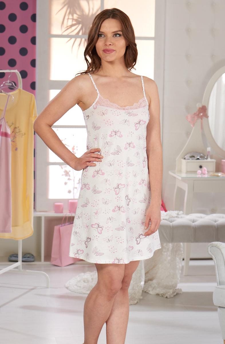 Ночная рубашка женская Sevim, цвет: белый. 10311 SV. Размер L (44/46) sevim kids майка