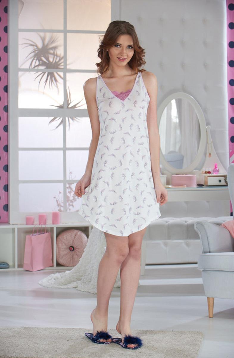 Ночная рубашка женская Sevim, цвет: кремовый. 10374 SV. Размер S (40/42) цены онлайн