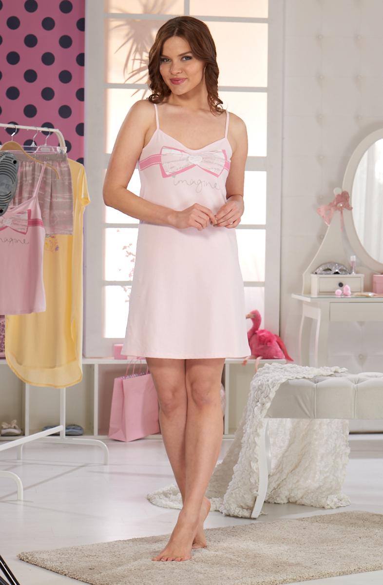 Ночная рубашка женская Sevim, цвет: пудра. 10301 SV. Размер XL (46/48) sevim kids майка