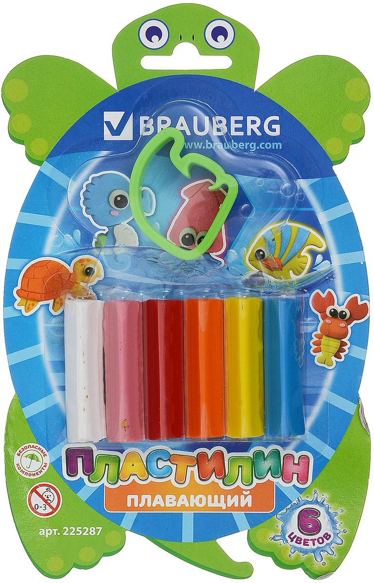 Brauberg Пластилин плавающий 6 цветов225287Пластилин Brauberg обладает прекрасными пластичными свойствами и мягкостью, легко принимает нужную форму, имеет яркие цвета. Фигурки, вылепленные из этого пластилина, отлично держатся на воде, благодаря легким наполнителям. В комплекте - фигурная формочка.Уважаемые клиенты! Обращаем ваше внимание на цветовой ассортимент товара. Поставка осуществляется в зависимости от наличия на складе.