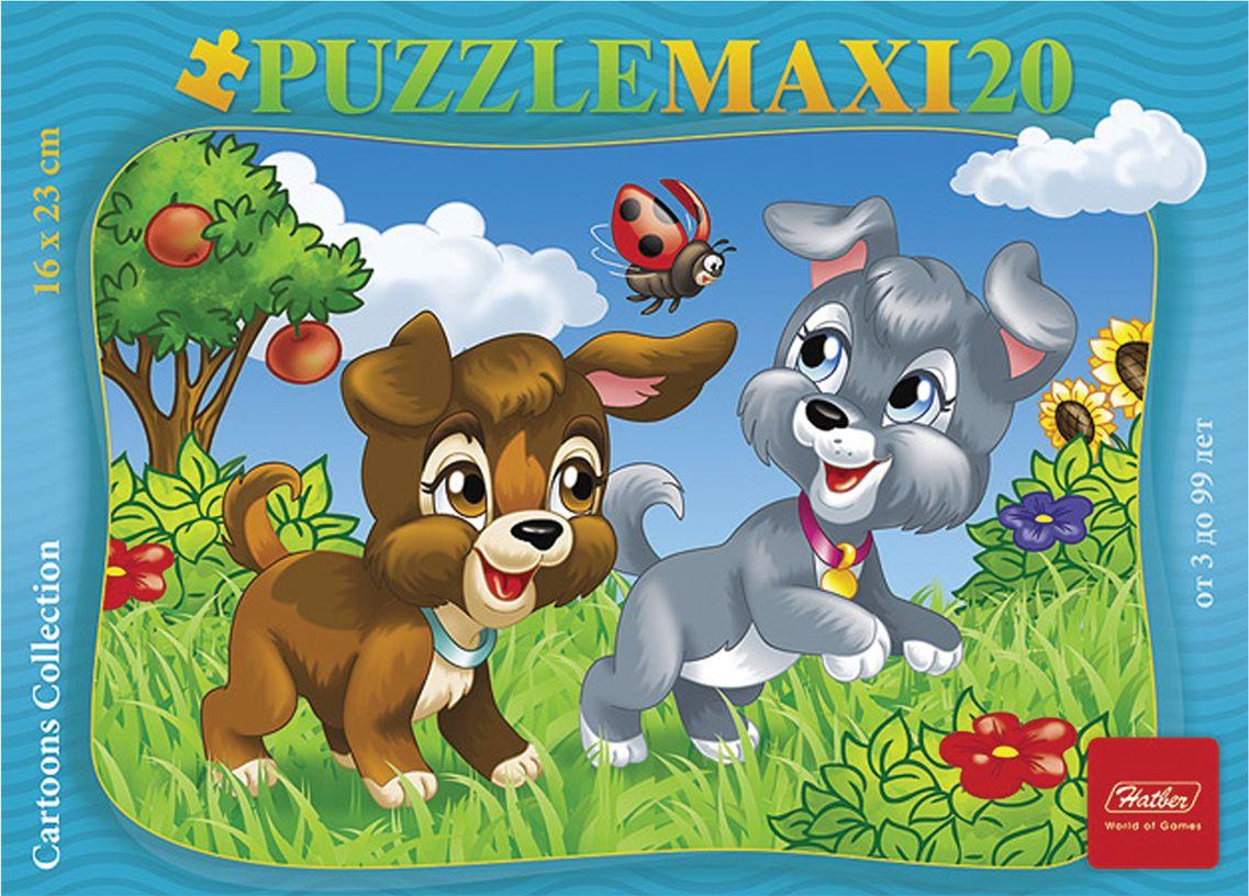 Hatber Пазл для малышей Веселые щенки глотова м д 1000наклеекумнмозаика веселые картинки для малышей