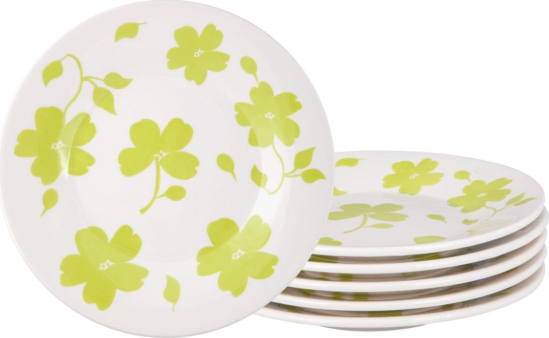 Набор тарелок десертных Biona Жасмин, 19 см, 6 шт7461JASMIN26-3-6Добавьте вашему столу бразильского очарования с набором тарелок Biona. Их яркие летние цвета прекрасно подойдут для ежедневной сервировки, а также станут естественным дополнением праздничного вечера. Набор включает в себя шесть десертных тарелок. Материал - керамика. Можно использовать в микроволновой печи и мыть в посудомоечной машине.