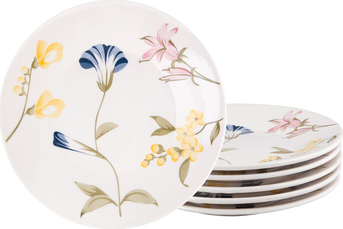 Набор тарелок десертных Biona Май, 19 см, 6 шт1543MAY26-3-6Добавьте вашему столу бразильского очарования с набором тарелок Biona. Их яркие летние цвета прекрасно подойдут для ежедневной сервировки, а так же станут естественным дополнением праздничного вечера. Набор включает в себя шесть десертных тарелок. Материал - керамика. Можно использовать в микроволновой печи и мыть в посудомоечной машине.