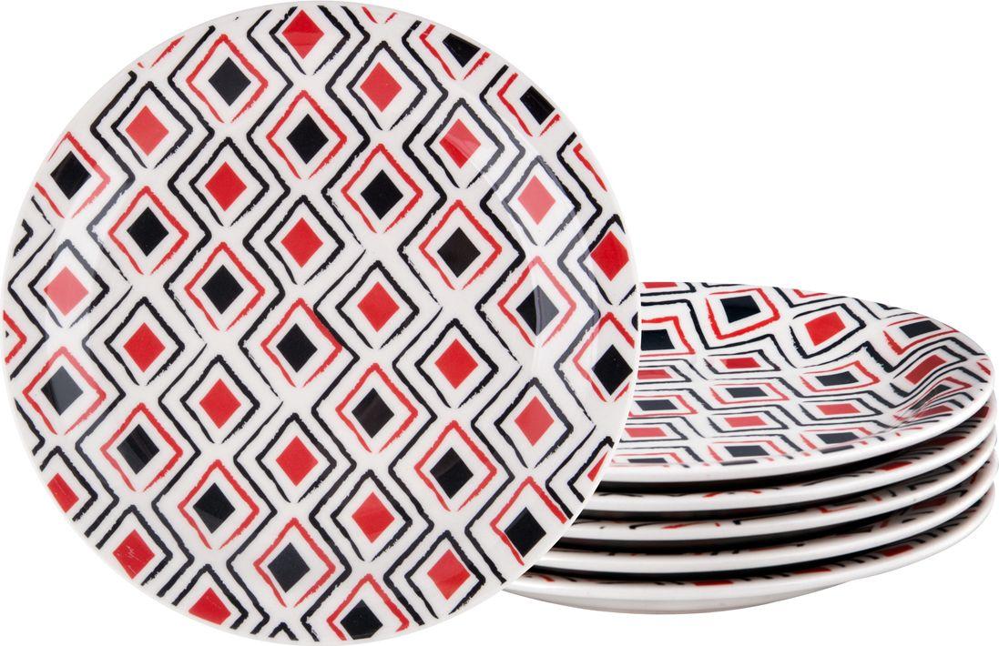 Набор тарелок десертных Biona Марахо, 20 см, 6 шт6752MARAJO-3-6Добавьте вашему столу бразильского очарования с набором тарелок Biona. Их яркие летние цвета прекрасно подойдут для ежедневной сервировки, а также станут естественным дополнением праздничного вечера. Набор включает в себя шесть десертных тарелок. Материал - керамика. Можно использовать в микроволновой печи и мыть в посудомоечной машине.