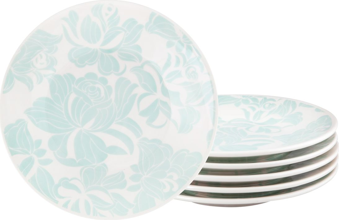 Набор десертных тарелок Biona Минт, 19 см, 6 шт тарелки biona набор тарелок суповых далия 22 см 6 шт