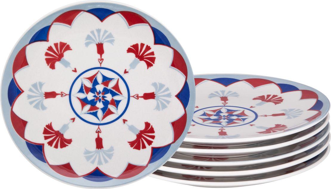 Набор тарелок десертных Biona Стамбул, 21 см, 6 шт4604ISTAMBUL-3-6Добавьте вашему столу бразильского очарования с набором тарелок Biona. Их яркие летние цвета прекрасно подойдут для ежедневной сервировки, а так же станут естественным дополнением праздничного вечера. Набор включает в себя шесть десертных тарелок. Материал - керамика. Можно использовать в микроволновой печи и мыть в посудомоечной машине.