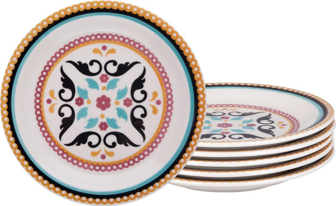 Набор тарелок десертных Biona Тодо, 20 см, 6 шт6750TODO-3-6Добавьте вашему столу бразильского очарования с набором тарелок Biona. Их яркие летние цвета прекрасно подойдут для ежедневной сервировки, а так же станут естественным дополнением праздничного вечера. Набор включает в себя шесть десертных тарелок.Можно использовать в микроволновой печи и мыть в посудомоечной машине.