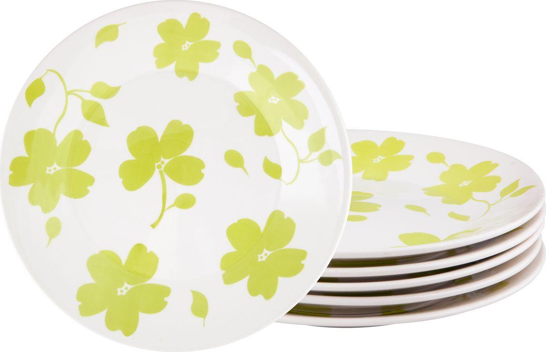 Набор тарелок обеденных Biona Жасмин, диаметр 26 см, 6 шт7461JASMIN26-1-6Добавьте вашему столу бразильского очарования с набором тарелок Biona. Их яркие летние цвета прекрасно подойдут для ежедневной сервировки, а так же станут естественным дополнением праздничного вечера.Набор включает в себя шесть обеденных тарелок. Можно использовать в микроволновой печи и мыть в посудомоечной машине.