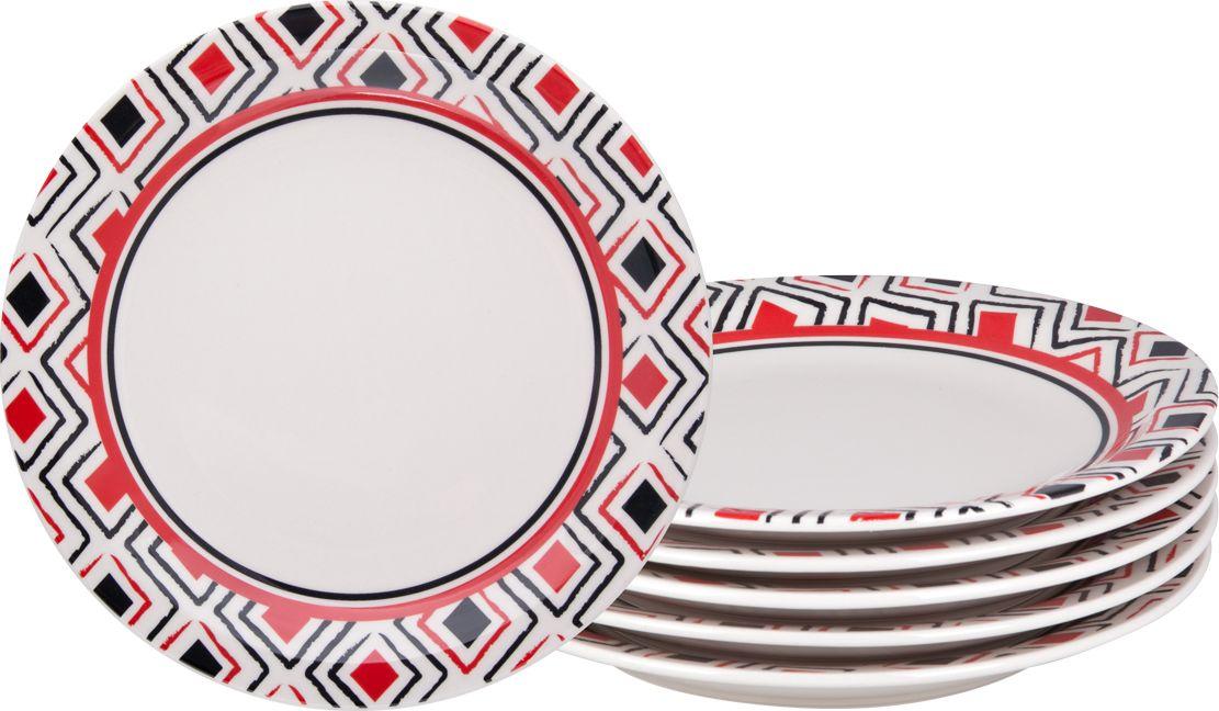 Набор тарелок обеденных Biona Марахо, 26 см, 6 шт6752MARAJO-1-6Добавьте вашему столу бразильского очарования с набором тарелок Biona. Их яркие летние цвета прекрасно подойдут для ежедневной сервировки, а так же станут естественным дополнением праздничного вечера. Набор включает в себя шесть обеденных тарелок. Материал - керамика. Можно использовать в микроволновой печи и мыть в посудомоечной машине.