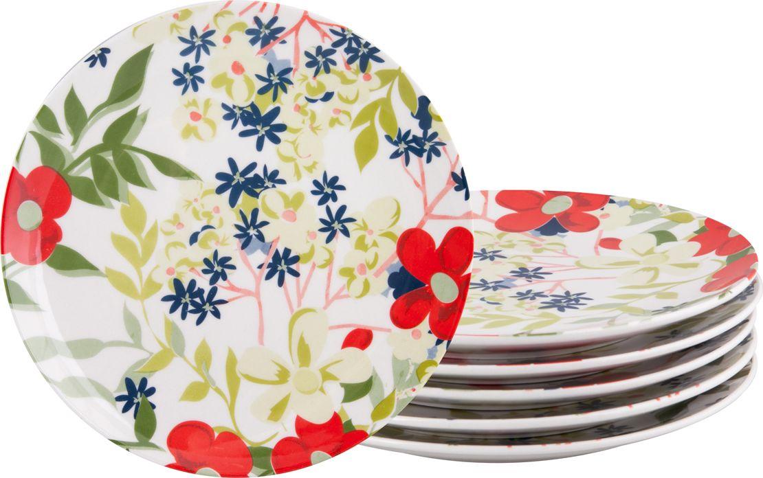 Набор обеденных тарелок Biona Сандей, 28 см, 6 шт4613SUNDAY-1-6Добавьте вашему столу бразильского очарования с набором тарелок Biona. Их яркие летние цвета прекрасно подойдут для ежедневной сервировки, а так же станут естественным дополнением праздничного вечера. Набор тарелок Biona Сандей выполнен из высококачественной керамики. Он включает в себя шесть обеденных тарелок. Можно использовать в микроволновой печи и мыть в посудомоечной машине.