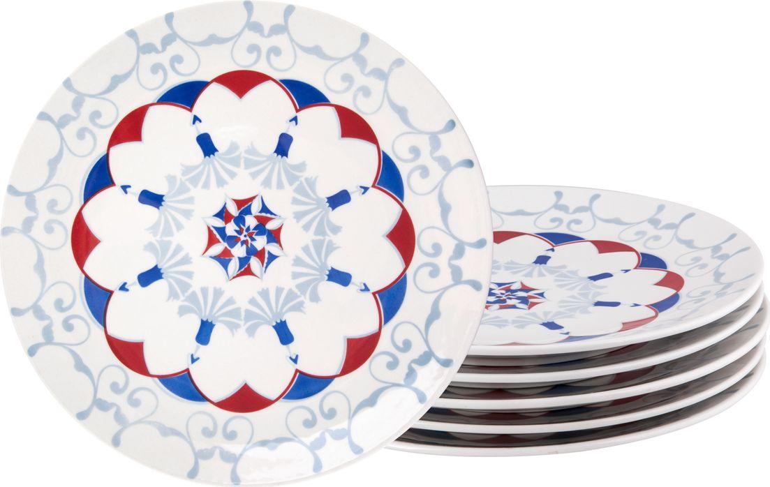 Набор обеденных тарелок Biona Стамбул, 28 см, 6 шт4604ISTAMBUL-1-6Добавьте вашему столу бразильского очарования с набором тарелок Biona. Их яркие летние цвета прекрасно подойдут для ежедневной сервировки, а так же станут естественным дополнением праздничного вечера. Набор тарелок Biona Стамбул выполнен из высококачественной керамики. Он включает в себя шесть обеденных тарелок.Можно использовать в микроволновой печи и мыть в посудомоечной машине.