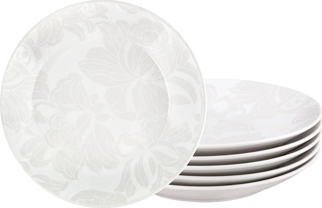 Набор тарелок суповых Biona Бланк, 24 см, 6 шт4787BLANC-2-6Добавьте вашему столу бразильского очарования с набором тарелок Biona. Они подойдут для ежедневной сервировки, а так же станут естественным дополнением праздничного вечера. Набор включает в себя шесть суповых тарелок. Материал - керамика. Можно использовать в микроволновой печи и мыть в посудомоечной машине.