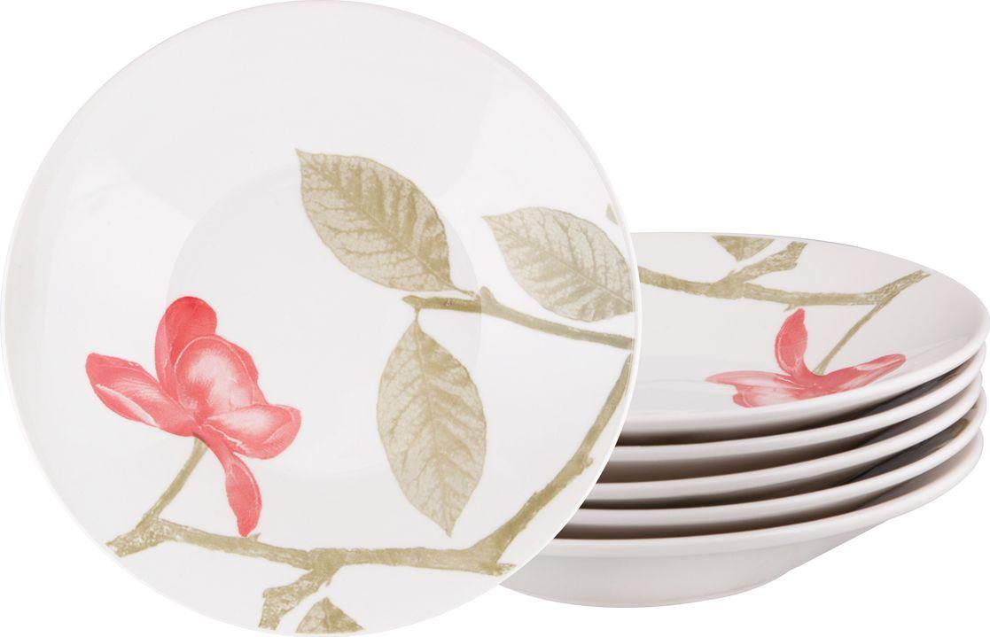 Набор тарелок суповых Biona Бьюти, 22 см, 6 шт1481BEAUTY26-2-6Добавьте вашему столу бразильского очарования с набором тарелок Biona. Их яркие летние цвета прекрасно подойдут для ежедневной сервировки, а так же станут естественным дополнением праздничного вечера. Набор включает в себя шесть суповых тарелок. Материал - керамика. Можно использовать в микроволновой печи и мыть в посудомоечной машине.