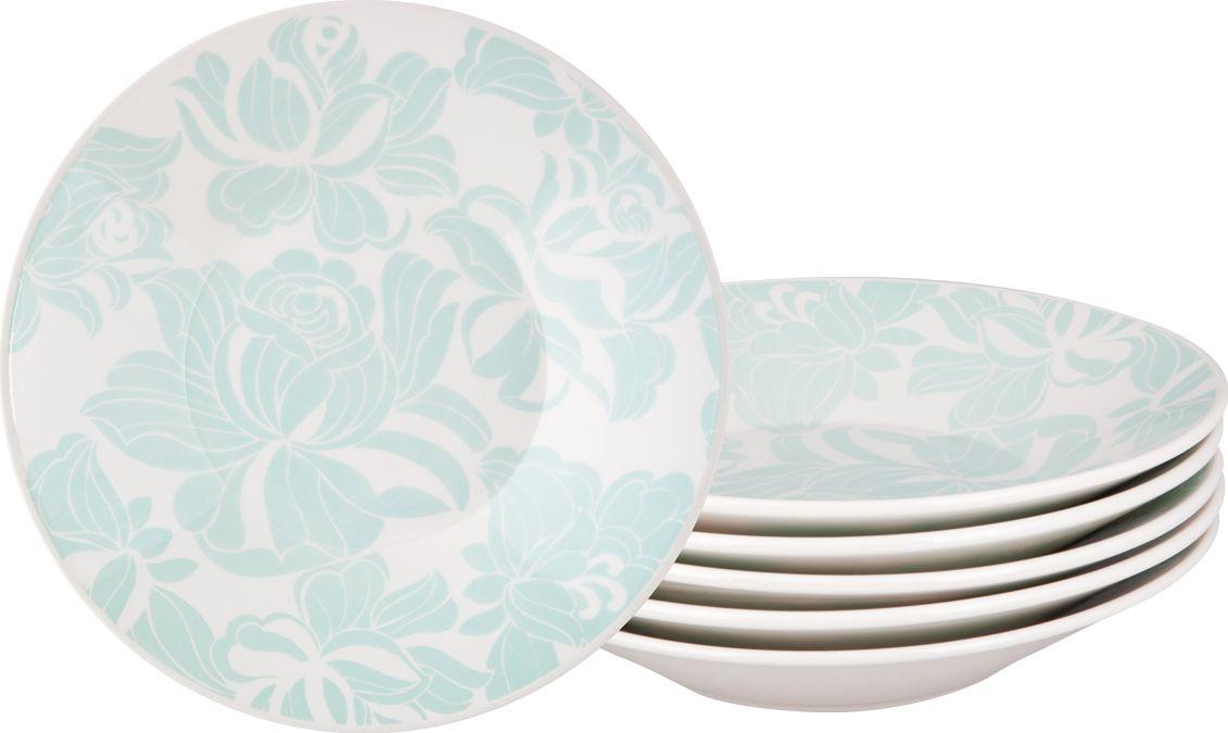 Набор суповых тарелок Biona Минт, 22 см, 6 шт1644AD73-6Добавьте вашему столу бразильского очарования с набором тарелок Biona. Они прекрасно подойдут для ежедневной сервировки, а также станут естественным дополнением праздничного вечера.Набор Biona Минт состоит из 6 суповых тарелок, изготовленных из качественной керамики.Можно использовать в микроволновой печи и мыть в посудомоечной машине.