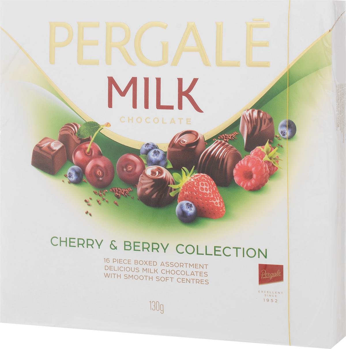 Pergale Набор конфет вишнево-ягодная коллекция, 130 г набор конфет pergale dark розы ассорти 382г
