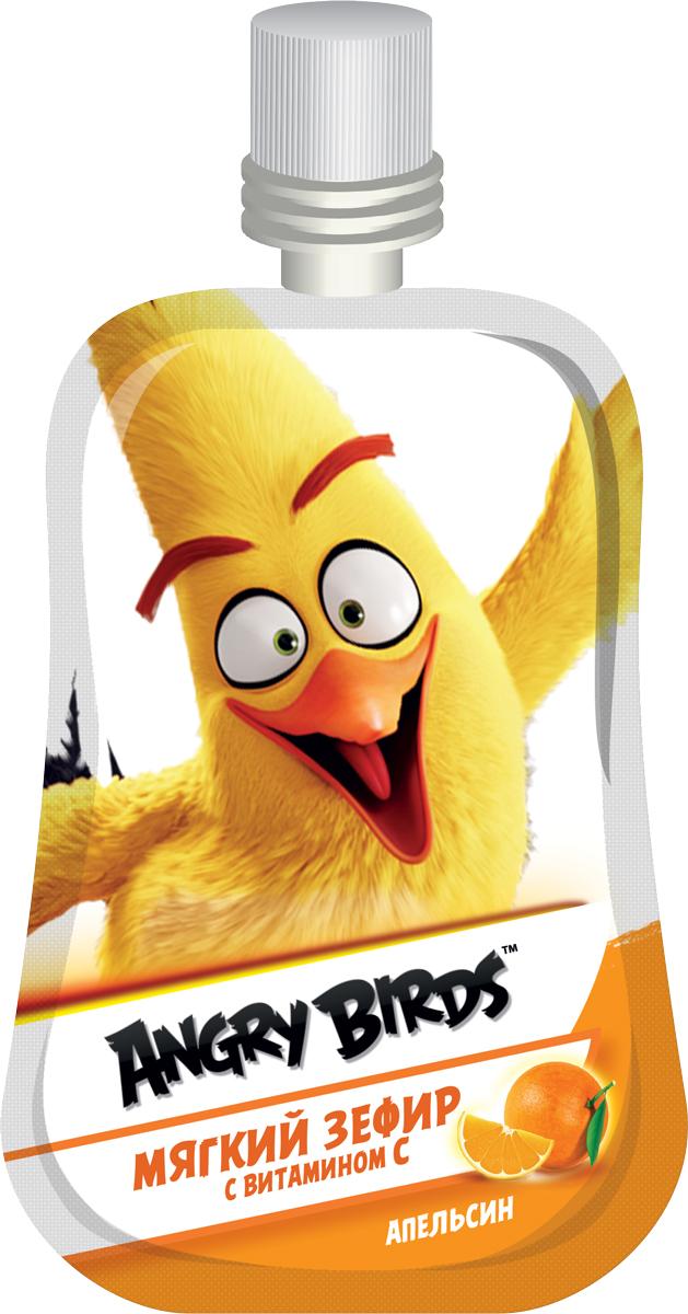 Конфитрейд Мягкий зефир с витамином C Angry Birds Апельсин, 12 гУТ18222_апельсинЖидкий зефир со вкусом апельсина.