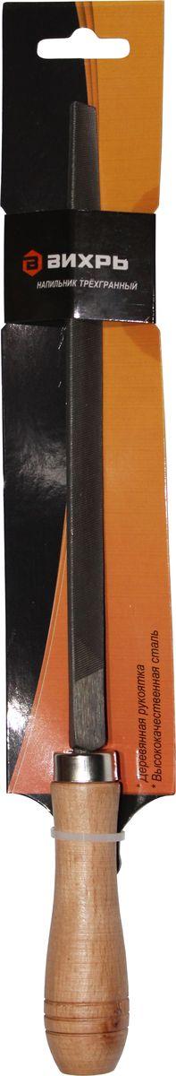 Напильник Вихрь, трехгранный, с рукояткой, 20 см73/6/4/3Слесарный напильник Вихрь предназначен для опиливания различных поверхностей. Изготовлен из высококачественной стали, обеспечивающей прочность и износостойкость изделия. Напильник оснащен эргономичной рукояткой.Длина напильника: 20 см.