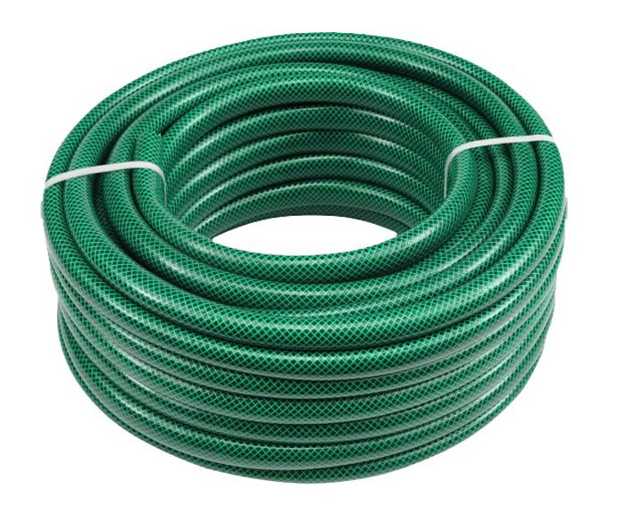 Шланг поливочный Вихрь, трехслойный, армированный, диаметр 19 мм, длина 25 м73/7/2/1Поливочный шланг Вихрь предназначен для орошения почвы на садовых и парковых участках. Армирован синтетической нитью. Устойчив к воздействию УФ излучения, не подвержен гниению. Отлично сохраняет первоначальную форму, не скручивается. Не содержит вредные для окружающей среды вещества.Рабочее давление – 4 бара.Максимальное давление: 10 бар.Диапазон рабочих температур: от -10°С до +60°С.Диаметр: 19 мм.Длина: 25 м.