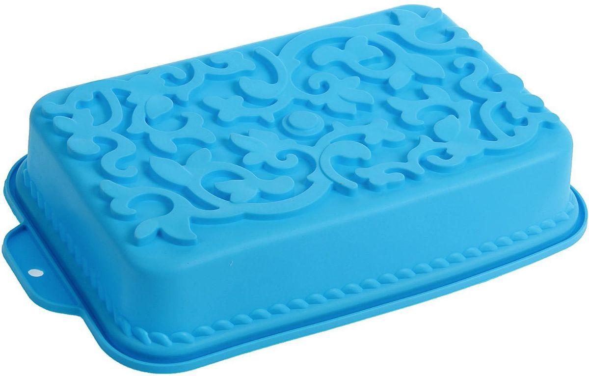 Форма для выпечки Доляна Ажур, цвет: голубой, 34 х 19 х 6,5 см1687524Форма Доляна Ажур выполнена из силикона, благодаря этому выпечку вынимать легко и просто. Материал устойчив к фруктовым кислотам, может быть использован в духовках и микроволновых печах. Перед первым применением промойте предмет тёплой водой.В процессе приготовления используйте кухонный инструмент из дерева, пластика или силикона.Перед извлечением блюда из силиконовой формы дайте ему немного остыть, осторожно отогните края предмета.Готовьте с удовольствием! Как выбрать форму для выпечки – статья на OZON Гид.