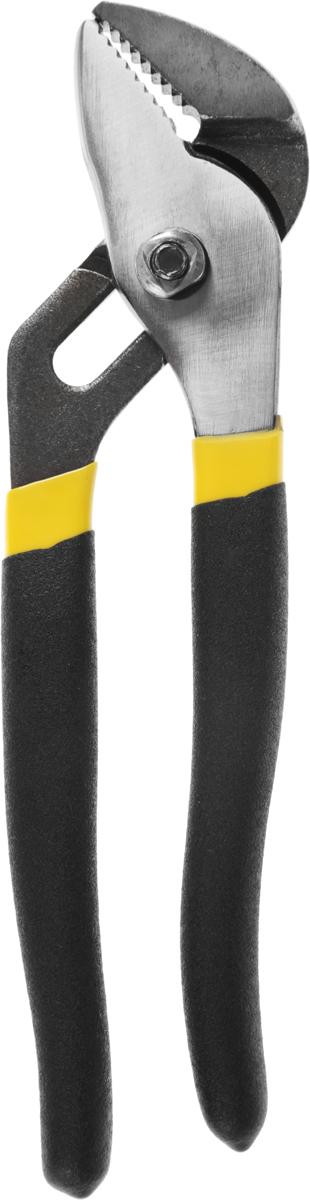 Клещи переставные PROconnect, 200 мм12-4619-4Клещи переставные PROconnect изготовлены из углеродистой стали. Имеют острую насечку на губках, обеспечивающую захват предметов, которые не имеют специальных рабочих поверхностей. Предназначены для захвата разнообразных по форме и размерам предметов, могут использоваться в качестве трубного или разводного ключа. Длина клещей: 20 см.