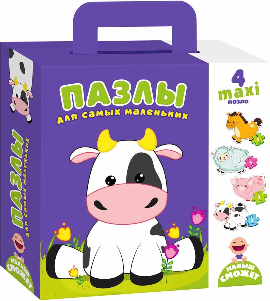 Vladi Toys Пазлы для самых маленьких Коровка
