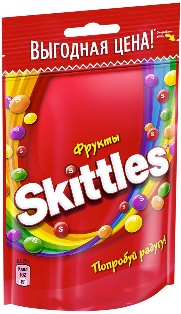 Skittles Фрукты драже в сахарной глазури, 100 г4009900481014Жевательные конфеты Skittles Фрукты c разноцветной глазурью предлагают радугу фруктовых вкусов в каждой упаковке! Конфеты с ароматами лимона, лайма, апельсина, клубники и черной смородины: заразитесь радугой, попробуйте радугу!Уважаемые клиенты! Обращаем ваше внимание на то, что упаковка может иметь несколько видов дизайна. Поставка осуществляется в зависимости от наличия на складе.Полный перечень состава продукта представлен на дополнительном изображении.