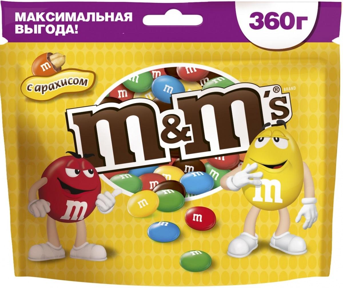 M&Ms драже с арахисом, 360 г79003027Драже с арахисом M&Ms - это больше веселых моментов для тебя и твоих друзей! Разноцветные драже можно съесть самому или разделить с друзьями. В любом случае, вкус отличного молочного шоколада и арахиса подарит вам удовольствие и радость.Уважаемые клиенты! Обращаем ваше внимание, что полный перечень состава продукта представлен на дополнительном изображении.Упаковка может иметь несколько видов дизайна. Поставка осуществляется в зависимости от наличия на складе.
