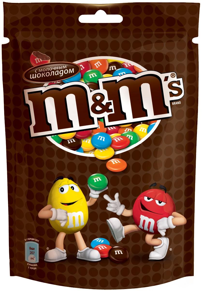 M&Ms драже с молочным шоколадом, 130 г79003022Драже M&Ms с молочным шоколадом, покрытое хрустящей разноцветной глазурью - это больше веселых моментов для вас и ваших друзей! Разноцветные драже можно съесть самому или разделить с друзьями. В любом случае, вкус отличного молочного шоколада подарит вам удовольствие и радость.Уважаемые клиенты! Обращаем ваше внимание, что полный перечень состава продукта представлен на дополнительном изображении.Уважаемые клиенты! Обращаем ваше внимание на то, что упаковка может иметь несколько видов дизайна. Поставка осуществляется в зависимости от наличия на складе.