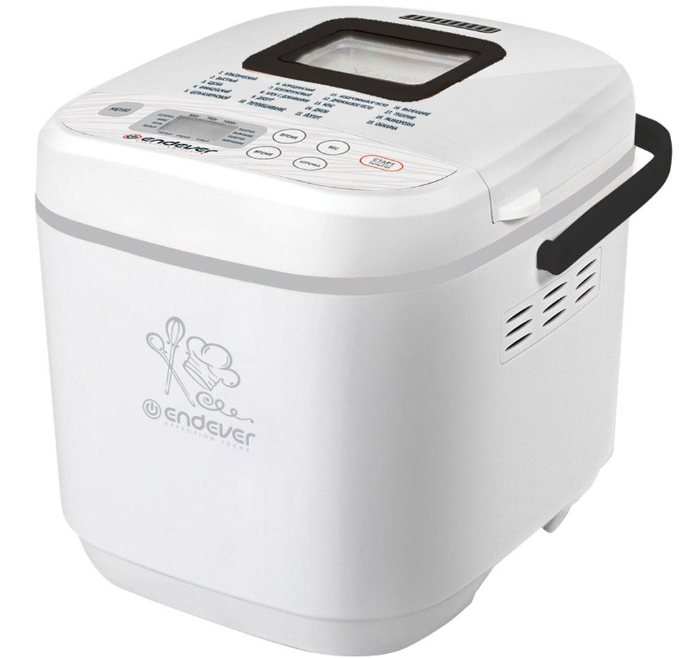 Endever Skyline MB-61 хлебопечкаMB-61С помощью хлебопечки Endever Skyline MB-61 можно приготовить хлеб, готовить пышную выпечку, различные блюда и десерты. 19 программ автоматического приготовления, включающие различные виды хлеба, а также десерты, джемы, позволяют не только создавать разнообразные, вкусные и, конечно, полезные блюда, но и существенно экономить время. В случае перебоев в энергоснабжении на срок менее десяти минут устройство способно восстановить работу в том же статусе, на котором была прервана программа.Функция отложенного старта: до 15 часовРежим поддержания тепла: до 1 часаНастройка размера буханки: 500 г/750 г/1000 гФункция паузы