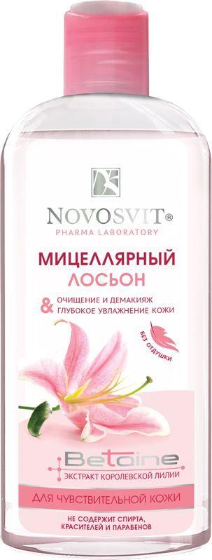 Novosvit Мицеллярный лосьон для чувствительной кожи Очищение и демакияж, 250 мл4607086564448Мягкая формула лосьона разработана специально для очищения кожи и снятия макияжа. Крошечные мицеллы лосьона при контакте с кожей мгновенно захватывают загрязняющие частички. Очищение происходит быстро и эффективно, не оказывая агрессивного воздействия.