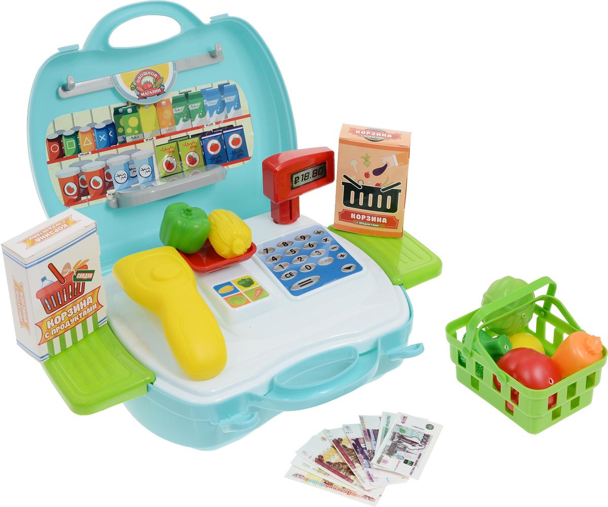 ABtoys Игровой набор Чудо-чемоданчик Овощной магазин 23 предмета ванс магазин