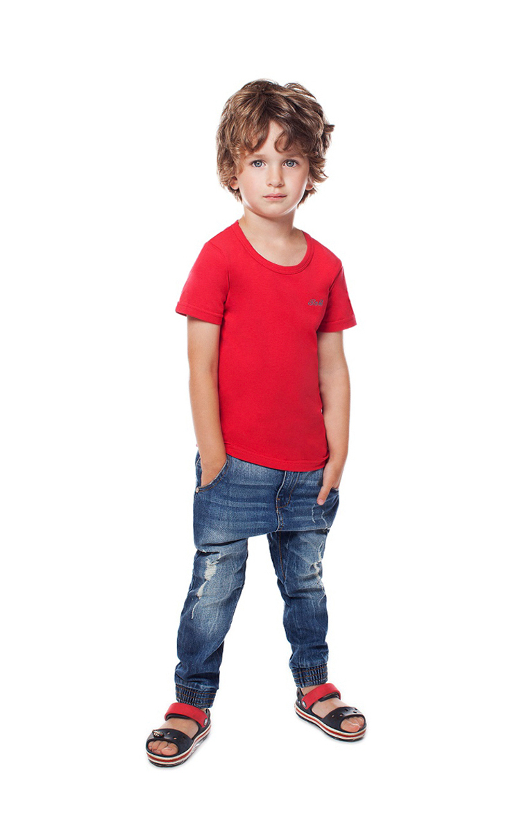 Футболка для мальчика Buonumare, цвет: красный. c0c1501-0007 / 20223 BNM. Размер 4 (116/128)c0c1501-0007 / 20223 BNMФутболка для мальчика Buonumare выполнена из эластичного хлопка, приятного к телу. Материал хорошо вентилируется и прекрасно впитывает лишнюю влагу. Модель с короткими рукавами.