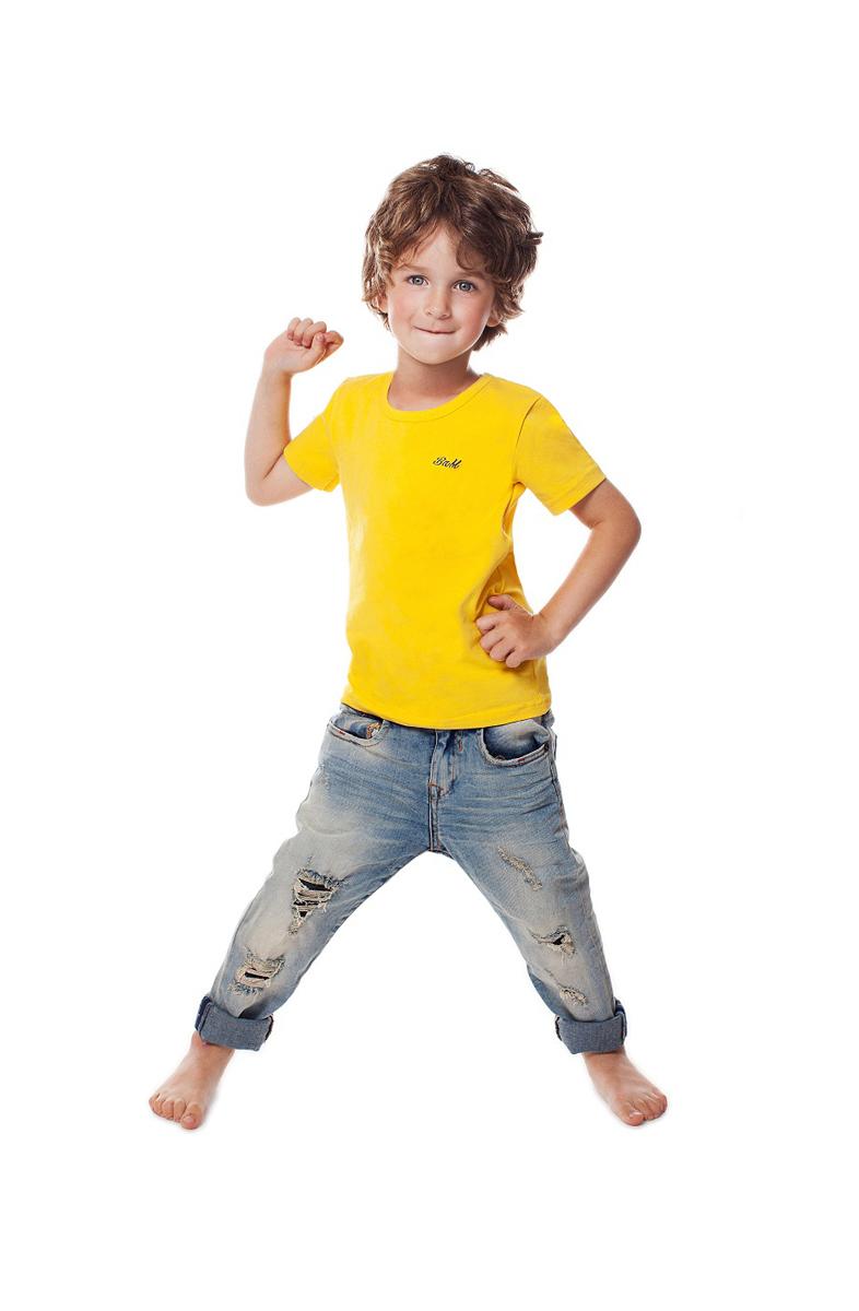 Футболка для мальчика Buonumare, цвет: желтый. c0c1501-0007 / 20223 BNM. Размер 2 (94/106)c0c1501-0007 / 20223 BNMФутболка для мальчика Buonumare выполнена из эластичного хлопка, приятного к телу. Материал хорошо вентилируется и прекрасно впитывает лишнюю влагу. Модель с короткими рукавами.