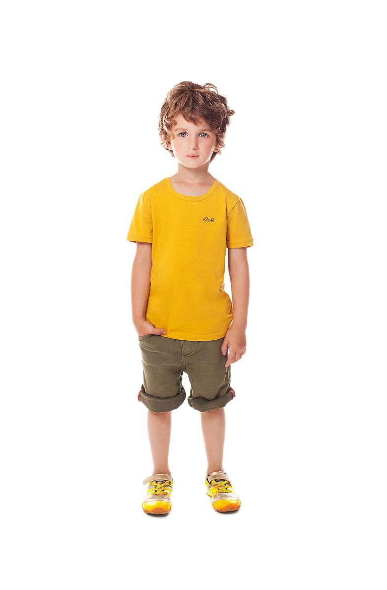 Футболка для мальчика Buonumare, цвет: горчичный. c0c1501-0007 / 20223 BNM. Размер 4 (116/128)c0c1501-0007 / 20223 BNMФутболка для мальчика Buonumare выполнена из эластичного хлопка, приятного к телу. Материал хорошо вентилируется и прекрасно впитывает лишнюю влагу. Модель с короткими рукавами.