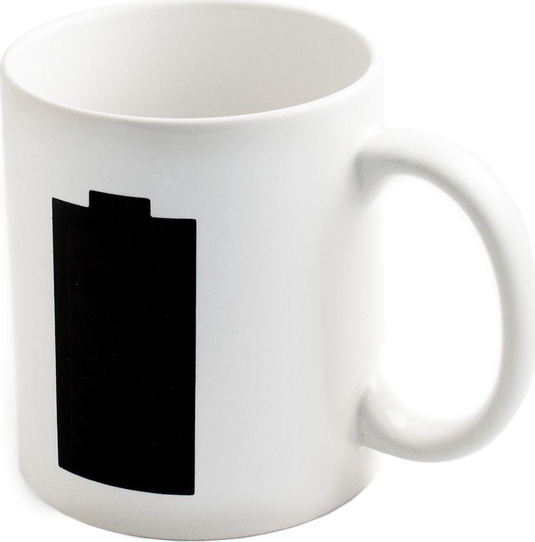 Кружка хамелеон Эврика Полная зарядка, 350 мл. 9805198051Оригинальная кружка с проявляющимся рисунком. Размеры упаковки: 12x9x10 см Размеры изделия: 12х9,5х8 cм Упаковка: красочный картон.