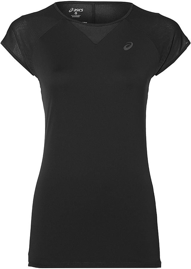 Футболка для фитнеса женская Asics Workout Top, цвет: черный. 141111-0904. Размер XL (50/52)141111-0904Футболка Asics предназначена специально для бега. Эта легкая беговая футболка обеспечит вам безупречный комфорт и достижение высоких спортивных результатов благодаря мягкой, эластичной ткани, которая отводит влагу и поддерживает тело сухим. Плоские швы не натирают кожу и обеспечивают полный комфорт. Фасон рукавов-реглан элегантен и создает свободу движений. Футболка декорирована логотипом. Максимальный комфорт и уникальный спортивный образ!