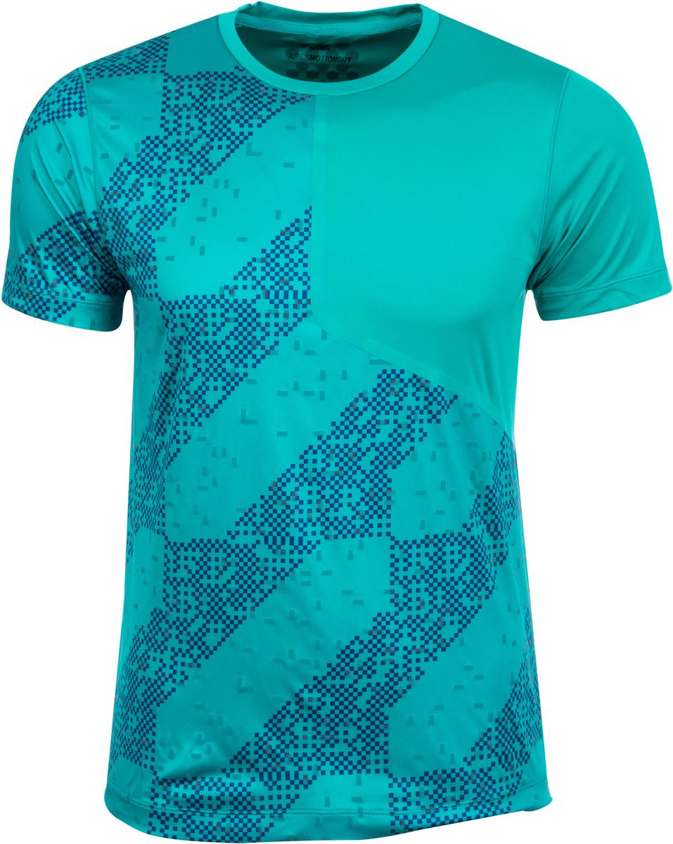 Футболка для бега мужская Asics Lite-Show SS Top, цвет: зеленый. 146617-1187. Размер L (50/52)